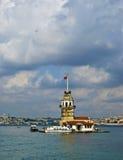Torre de Leanders, Estambul fotografía de archivo