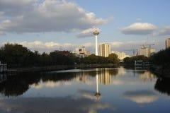 Torre de Liaoning TV fotos de archivo libres de regalías