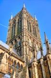 Torre de Lincoln Cathedral, Reino Unido Fotografia de Stock
