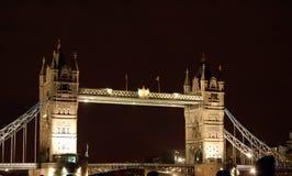 Torre de Londres en la noche Fotografía de archivo