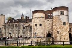 A torre de Londres, o Reino Unido. Royal Palace histórico fotografia de stock royalty free