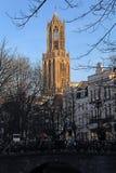 Torre de los Dom de Utrecht, Holanda Imagenes de archivo