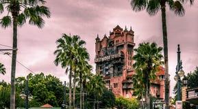 Torre de los estudios de Orlando Florida Hollywood del mundo de Disney del terror fotos de archivo libres de regalías