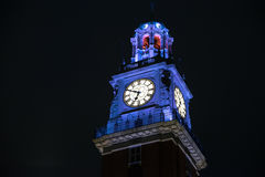 Torre de los Ingleses English Tower at night in Buenos Aires Royalty Free Stock Image