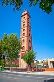 Torre de los Perdigones。古色古香的塔在塞维利亚。西班牙 免版税库存图片