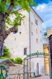 Torre de Lotrscak en Zagreb fotografía de archivo