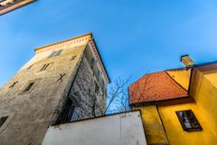 Torre de Lotrscak en Zagreb, Croacia imagen de archivo