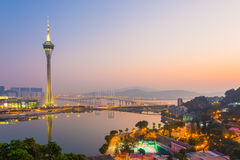 Torre de Macao Imagenes de archivo