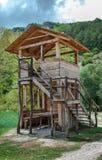 Torre de madeira da supervisão Fotografia de Stock