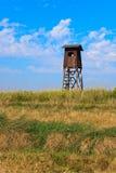 Torre de madeira velha do relógio Imagens de Stock Royalty Free