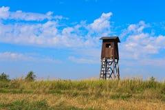 Torre de madeira velha do relógio Imagens de Stock