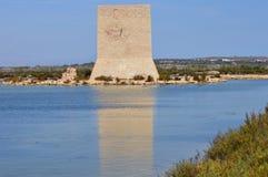 Torre de madera del reloj Foto de archivo libre de regalías