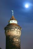 Torre de madera del reloj Foto de archivo