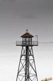 Torre de madera del reloj imagen de archivo