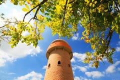 Torre de madera del reloj Imágenes de archivo libres de regalías