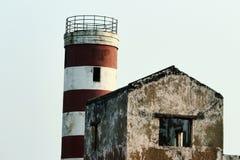 Torre de madera del reloj Fotos de archivo libres de regalías