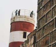 Torre de madera del reloj Fotos de archivo
