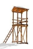 Torre de madera del salvavidas Imágenes de archivo libres de regalías