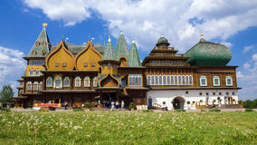 Torre de madera en el museo Kolomenskoye, Moscú, Rusia Fotografía de archivo libre de regalías