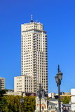 Torre de Madrid   in the Capital city of Spain Stock Photo