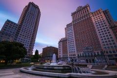 Torre De Madrid et edificio de España Photo libre de droits