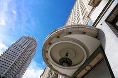 Torre De Madrid und edificio Espana Lizenzfreie Stockfotografie