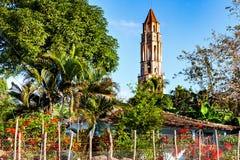 Torre de Manaca Iznaga em Valle de los Ingenios, Trinidad, Cuba imagens de stock royalty free