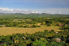 Torre de Manaca Iznaga no vale de Valle de los Ingenios perto da cidade de Trinidad em Cuba Foto de Stock Royalty Free