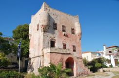Torre de Markellos, Aegina Fotos de archivo libres de regalías