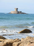 Torre de Martello da baía do St Ouens, jérsei Imagem de Stock Royalty Free