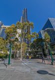 Torre de Melbourne Eureka verticalmente Imagen de archivo