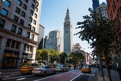 Torre de Metlife en Manhattan en Madison Square Park fotografía de archivo