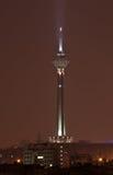 Torre de Milad en la noche Foto de archivo