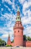 Torre de Moskvoretskaya de la Moscú el Kremlin Imágenes de archivo libres de regalías