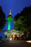 Torre de N Seoul ou torre de Namsan Fotos de Stock