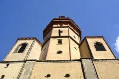 Torre de Nikolaikirche en Leipzig Fotos de archivo libres de regalías