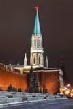 Torre de Nikolskaya de Moscovo Kremlin, Rússia Fotografia de Stock
