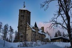 A torre de observação em Liberec Foto de Stock