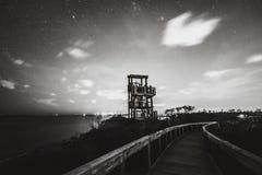 Torre de observação no parque estadual foto de stock