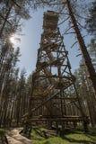 Torre de observación de madera Foto de archivo libre de regalías