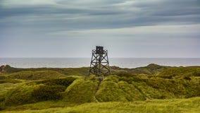Torre de observación en Blavand Imagenes de archivo