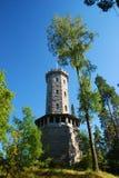 Torre de observación en la región de mil lagos Fotografía de archivo libre de regalías