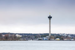 Torre de observación en Tampere, Finlandia Imagen de archivo