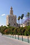 Torre de Oro - Séville, Espagne. images stock