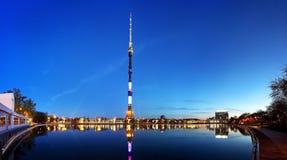 Torre de Ostankino imagenes de archivo
