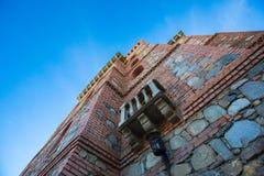 Torre de pedra do castelo fotografia de stock