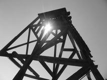Torre de perforación de la explotación minera Imágenes de archivo libres de regalías