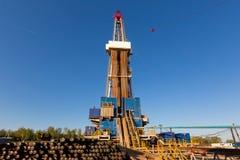 torre de perforación de petróleo Tartaristán Rusia Imagen de archivo