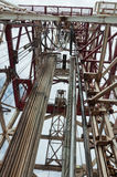 Torre de perforación de la unidad semisubmersible de la perforación Fotos de archivo