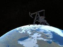 Torre de petróleo ilustração royalty free